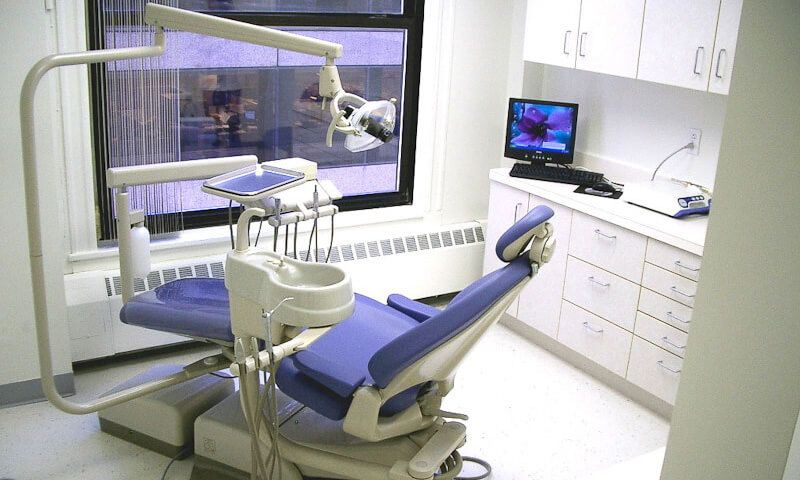 State-of-the-art dental exam room