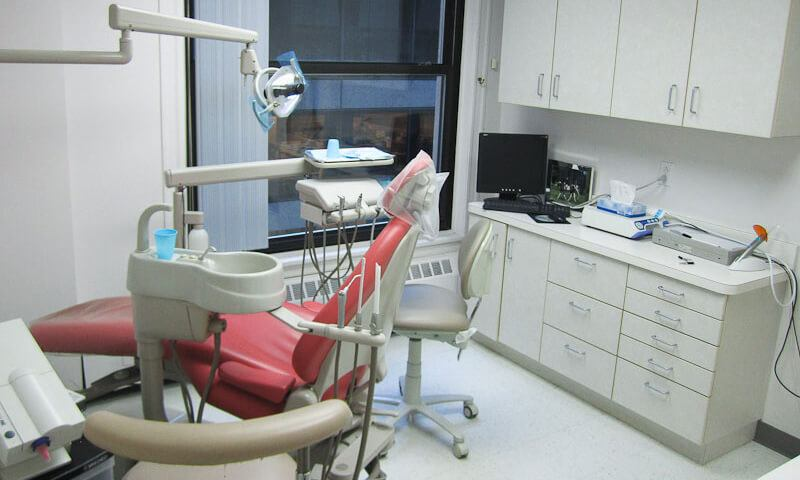 Dental patient treatment room